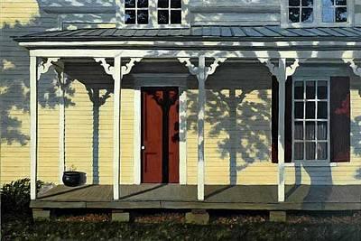 Maine Dooryard Painting - Paris Dooryard by Murad Sayen