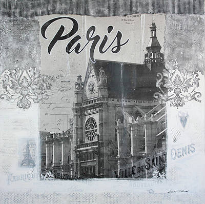 Cardboard Mixed Media - Paris Dream by Donine Wellman