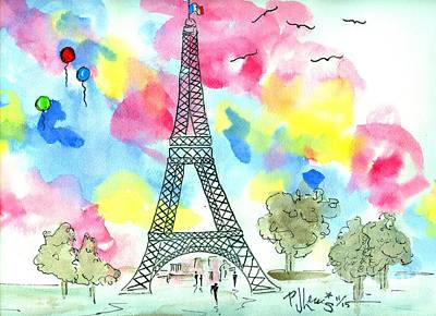 Paris Dreaming Original by P J Lewis