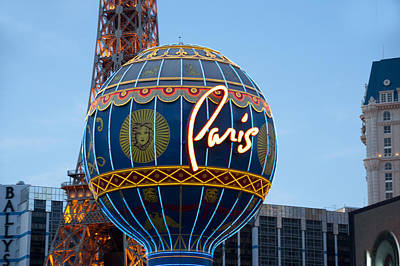 Paris-eifel Tower-las Vegas Art Print by Neil Doren