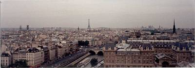 Photograph - Paris Eiffel From Notre Dame  by Christopher Kirby