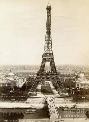 Photograph - Paris: Eiffel Tower, 1900 by Granger