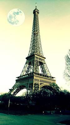 Paris Painting - Paris Eiffel Tower by Celestial Images