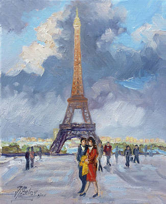 Painting - Paris Eiffel Tower by Irek Szelag