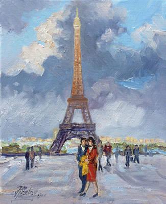 Paris Painting - Paris Eiffel Tower by Irek Szelag