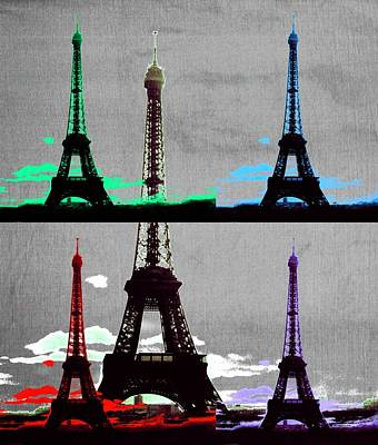 Photograph - Paris, Eiffel Tower - Pop Art by Marianna Mills