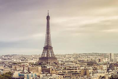Paris Eiffelturm Art Print by Davis J Engel