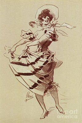Drawing - Paris Fashion Ca 1900 By Jules Cheret by Aapshop