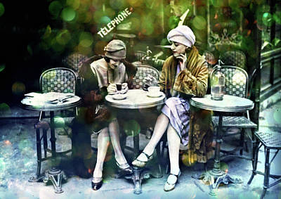 Photograph - Paris Fashionista 1920 by Lilia D