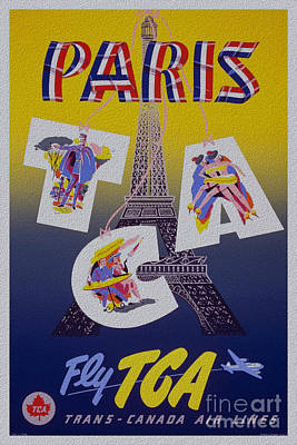 Painting - Paris Fly Tga Stylish Classic Poster by R Muirhead Art