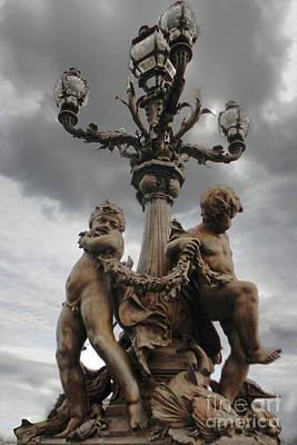 Photograph - Paris France Cupids by Gregory Dyer