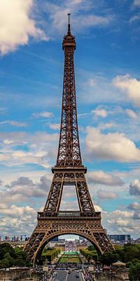 Photograph - Paris France Eiffel Tower -1x2- 7k_dsc1969_09102017 by Greg Kluempers