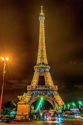 Photograph - Paris France Eiffel Tower At Night 7k_dsc2063_09102017 by Greg Kluempers