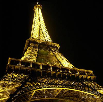 Photograph - Paris - France - Le Tour Eiffel At Night by Carlos Alkmin