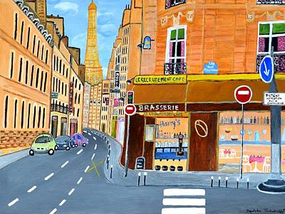 Painting - Paris France, Rue St. Dominique by Magdalena Frohnsdorff