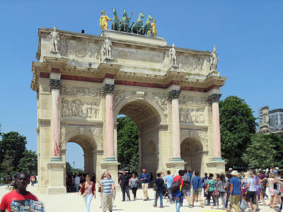 Louve Photograph - Paris France Small Triumphal Arch At The Louvre 2 by Richard Singleton