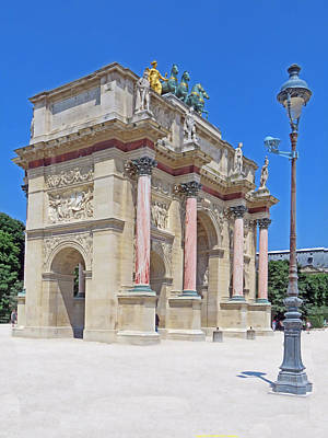 Louve Photograph - Paris France Small Triumphal Arch At The Louvre by Richard Singleton