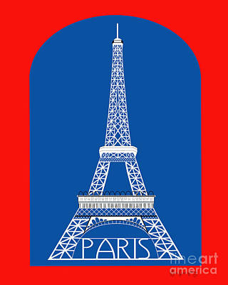 Paris France Vertical Scene - Eiffel Tower Art Print