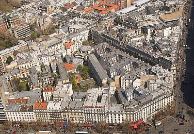 Painting - Paris From Above II Montparnasse by Louise Fahy
