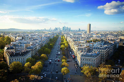 Paris Skyline Royalty-Free and Rights-Managed Images - Paris from Place de lEtoile by Anastasy Yarmolovich