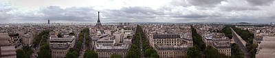 Paris From The Arch De Triumph Art Print by Robert Ponzoni