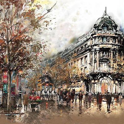 Op Painting - Paris Gaumont Opera 172 1  by Mawra Tahreem
