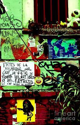 Paris Graffiti Art Print by Louise Fahy