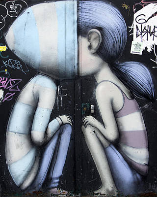 Photograph - Paris Grafitti Boy And Girl by Gigi Ebert