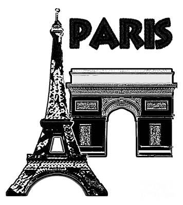 Mixed Media - Paris Graphique by Pharris Art