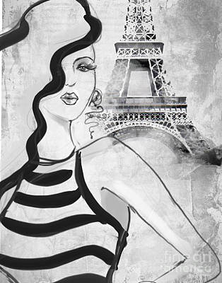 Paris Grey Art Print