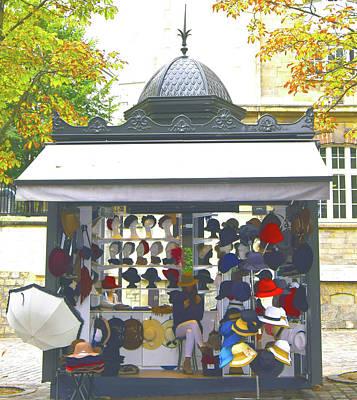 Photograph - Paris Hat Shop by Steve Kearns