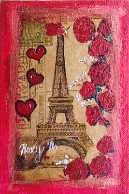 Cities Painting - Paris Hearts by Roxy Rich