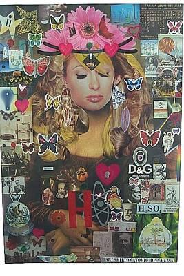 What Is Life Mixed Media - Paris Hilton Atomic  Monna Lisa by Francesco Martin