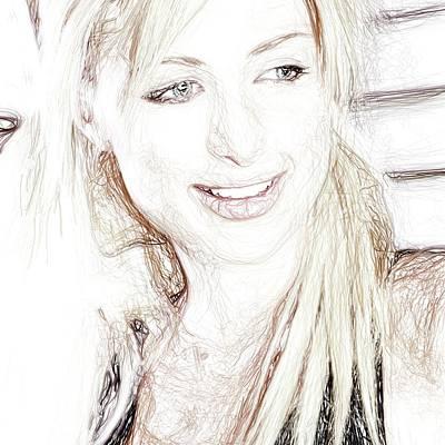 Hoodies Drawing - Paris Hilton by Raina Shah
