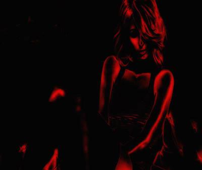 Paris Hilton Red Art Print by Brian Reaves