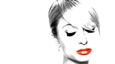 Paris Hilton Just Me Art Print by Brian Reaves