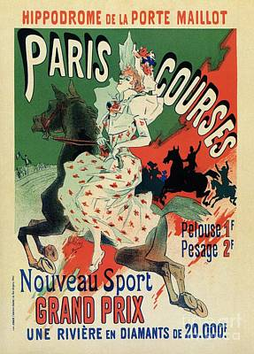Belle Epoque Digital Art - Paris Horse Races Hippodrome by Heidi De Leeuw