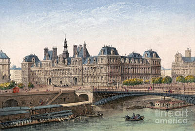 Drawing - Paris, Hotel De Ville, C1875 by Granger