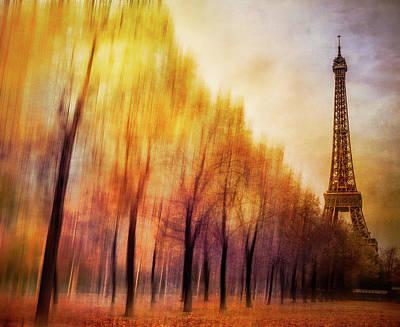 Paris In Autumn Art Print by Marty Garland