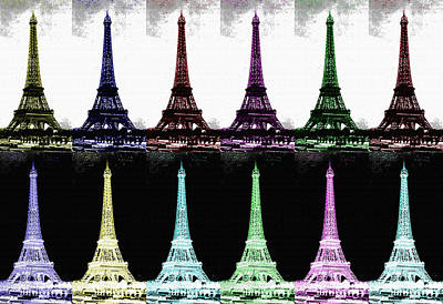 Photograph - Paris In Many Colors by Saad Hasnain
