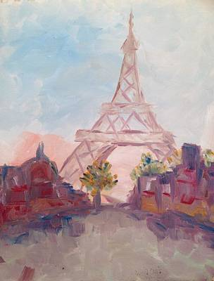 Cities Painting - Paris In Pastel by Roxy Rich