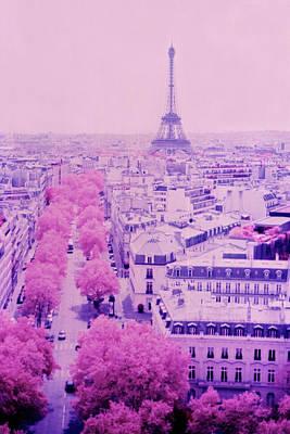 Paris In Pink, From The Arc De Triomphe Original