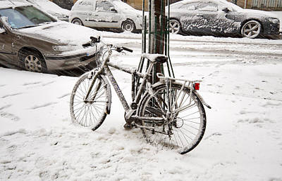 Slushy Photograph - Paris In Snow by Louise Heusinkveld