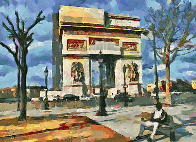 Digital Art - Paris In Spring by Yury Malkov