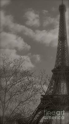 Paris In The Spring Art Print by Louise Fahy