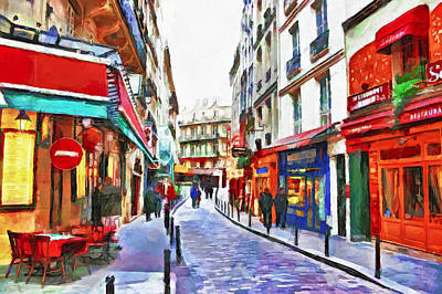 Digital Art - Paris In Winter by Yury Malkov