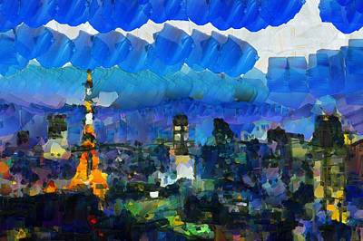 Paris Inside Tokyo Original by Sir Josef - Social Critic -  Maha Art
