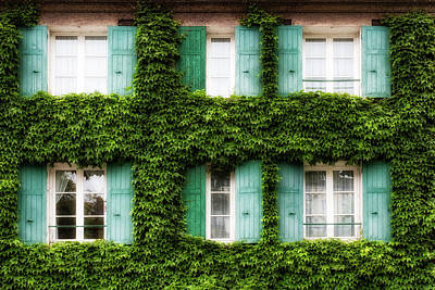 Outlook Photograph - Paris Ivy Covered Windows by Georgia Fowler