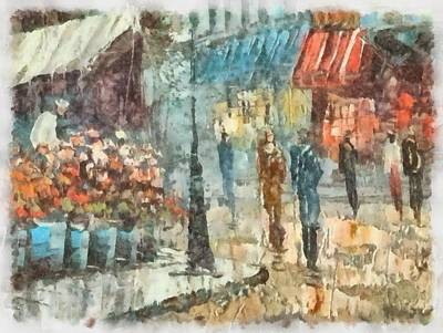 Moulin Rouge Painting - Paris by John Springfield