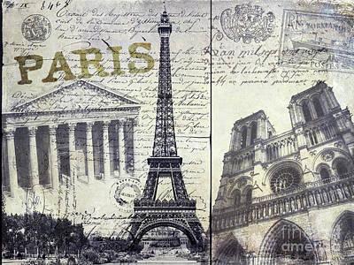 Vintage Eiffel Tower Photograph - Paris by Jon Neidert